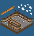bazaar farm market composition vector image