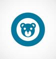 bear toy bold blue border circle icon vector image vector image