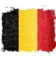 belgium flag grunge vector image vector image