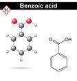 Benzoic acid vector image vector image