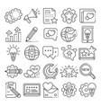 brand icon set outline style vector image vector image