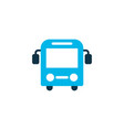 bus icon colored symbol premium quality isolated vector image