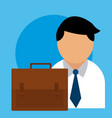 businessman with briefcase concept vector image