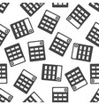 calculator seamless pattern background icon flat vector image