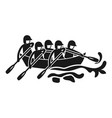 canoeing rafting icon simple style vector image