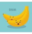 cartoon banana fruit facial expression design vector image vector image