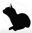 cat silhouette in Sitting pose vector image