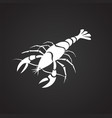 claw fish on black background vector image