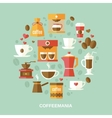 Coffee flat circle vector image vector image