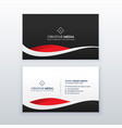 creative dark business card design vector image vector image