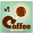 cup coffee vector image