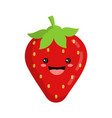 cute funny strawberry isolated on white background vector image