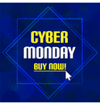 Cyber monday sale deep blue bubble background vector image