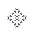 dianthus line icon concept dianthus flat vector image vector image