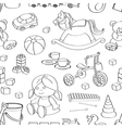 Doodle pattern toys vector image vector image