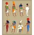 Egyptian gods icons vector image