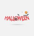 eyes amp halloween banner vector image vector image