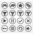 flat game icons set vector image