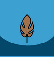 Flat icon design collection leaf of tree