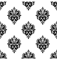 Floral seamless arabesque pattern with damask vector image vector image