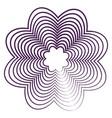 flower guilloche vector image