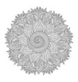 for coloring book with round pattern vector image vector image
