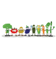 Funny Vegetables Saying Hello vector image vector image