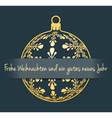German Christmas and New Year background vector image vector image