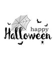 happy halloween banner invitation letter and vector image vector image