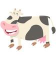 happy milk cow farm animal character vector image