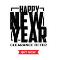 happy new year sale vector image vector image