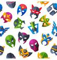 hero mask face masque and masking cartoon vector image