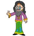 hippie guru vector image