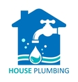 house plumbing symbol vector image vector image