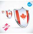 I Love Canada Flag vector image