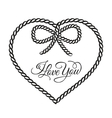 I love you - card vector image