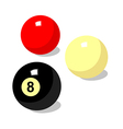 icon billiard ball vector image vector image