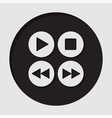 information icon - music control buttons vector image