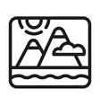 landscape nature logo vector image vector image