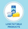 law fat milk products paper box design food