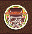 logo for barbecue party vector image