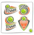 logo lawn tennis ball vector image vector image