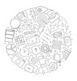 marketing circle background from line icon vector image vector image