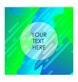 multicolor background with typography vector image