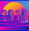 new year 2019 icon vector image