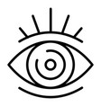 open eye icon outline style vector image