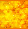 orange abstract techno background with hexagons vector image vector image