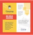 pencil box company brochure title page design vector image vector image