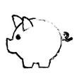 piggy bank safe money deposit concept vector image vector image