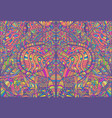 psychedelic creative colorful symmetrical pattern vector image vector image